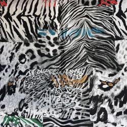 завеса/дамаска в неутрални тонове със свежи цветни акценти Danjo Fauna