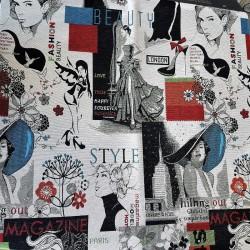завеса/дамаска в неутрални тонове със свежи цветни акценти Danjo Fashion
