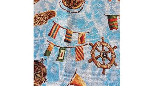 завеса/дамаска със свежи цветни акценти Brujula 601 Azul