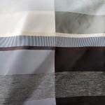 завеса в кафяв цвят с широки хоризонтални райета в какаово и шампанско Мартекс