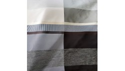 curtain elegant brown curtain with wide horizontal stripes in cocoa and champagne Martex
