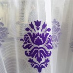 перде мрежа с бароков мотив в лилав цвят ТАС