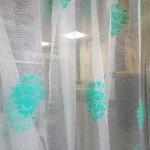 перде мрежа с бароков мотив в цвят мента ТАС